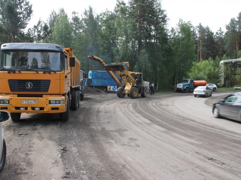 В Ангарске начался ремонт бывшей ведомственной дороги АЭХК