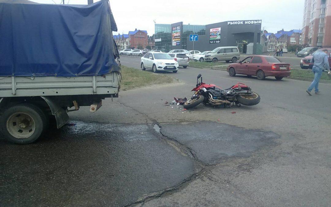 Ангарск. ДТП с участием мотоцикла 20.07.2018 (видео)