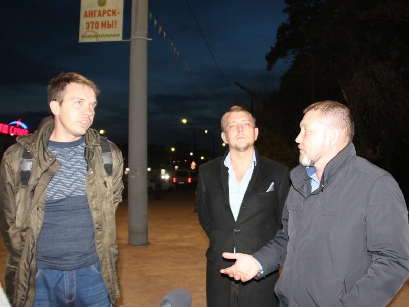 Заместитель мэра Ангарска проверил уличное освещение города