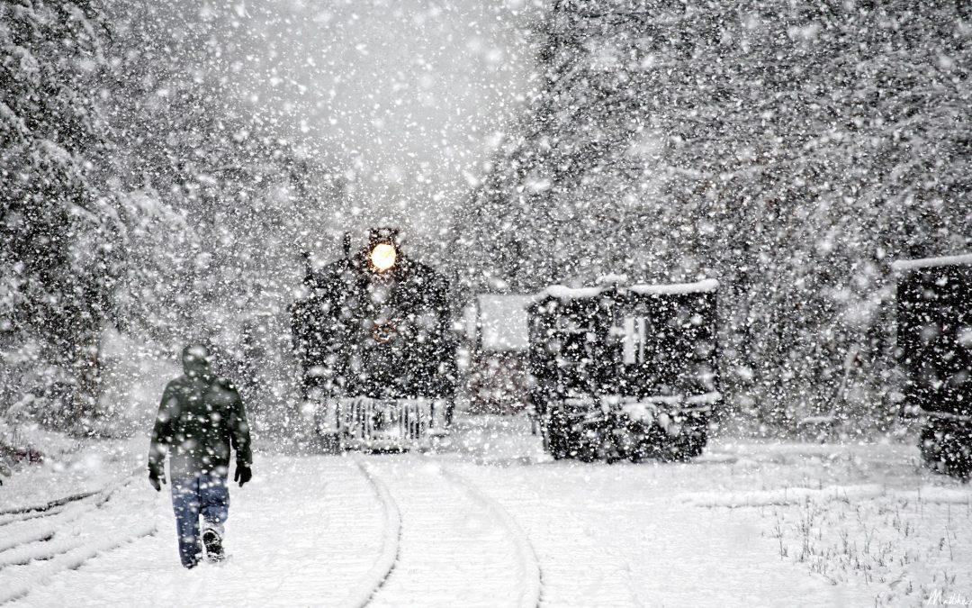 Снег и метели пришли в Иркутскую область (видео)