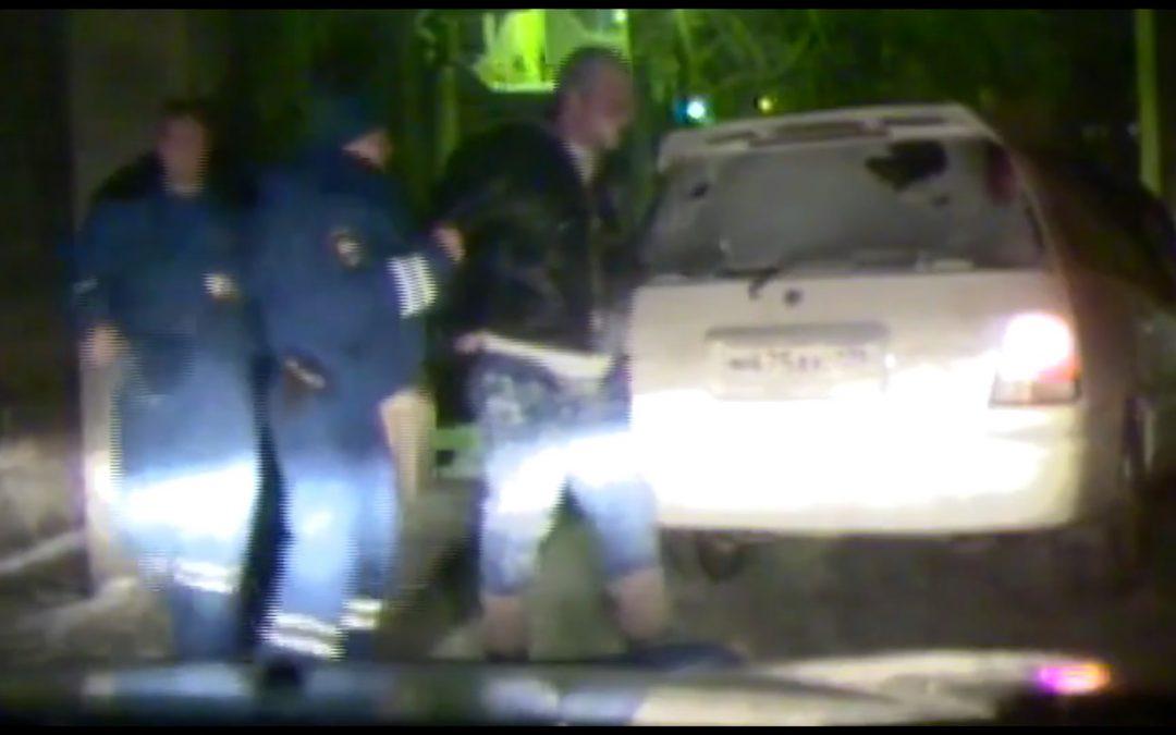 Погоня за пьяным водителем в Ангарске (видео)