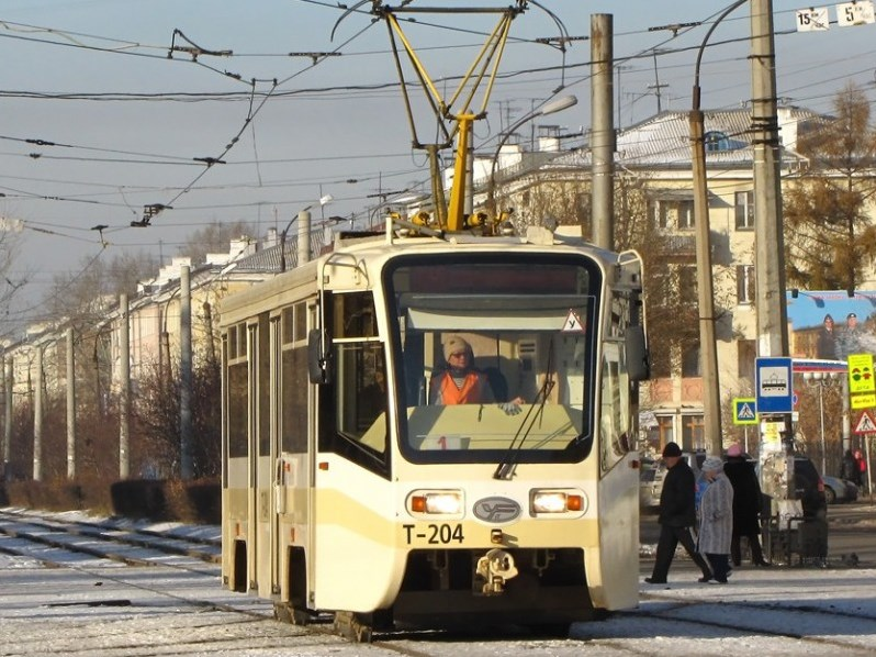 В Ангарске и в трамваях, и в автобусах действует единая транспортная система оплаты проезда