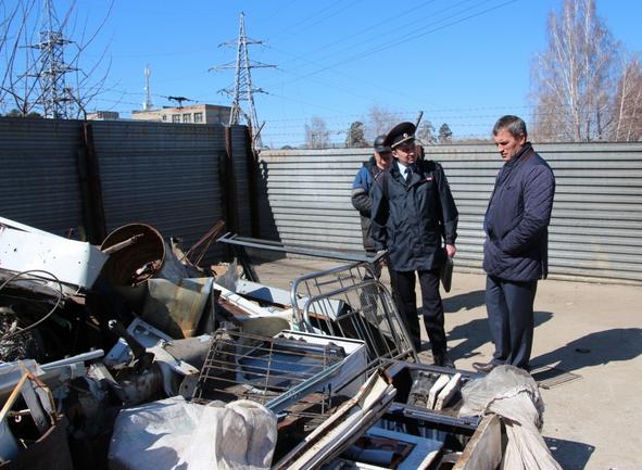 В ходе рейда в Ангарске пресечена деятельность незаконного пункта приема металлов