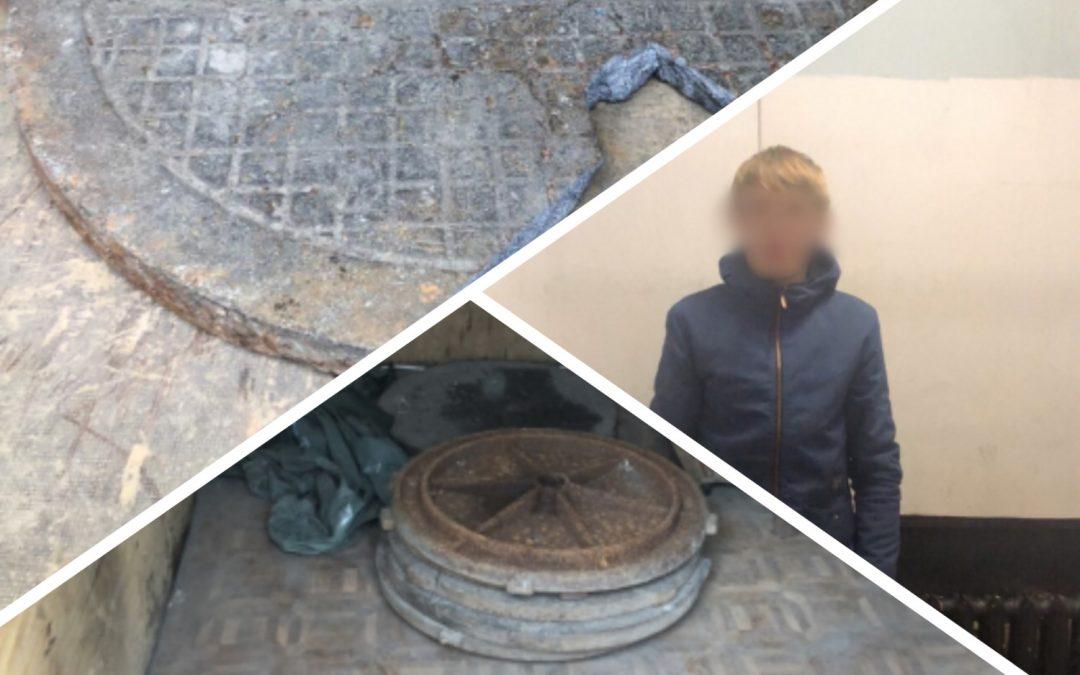 В Ангарске полицейские задержали подозреваемых в кражах крышек канализационных люков (видео)