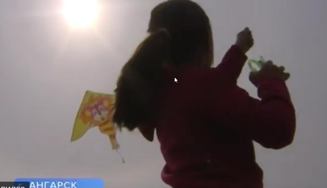 Сотню воздушных змеев выпустили ангарчане в пойме реки Китой (видео)
