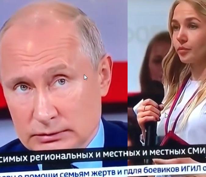 Ангарская журналистка напрямую задала вопрос Путину на тему пожаров в Иркутской области