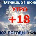 Погода в Ангарске 21 июня: прогноз, приметы и видеообзор