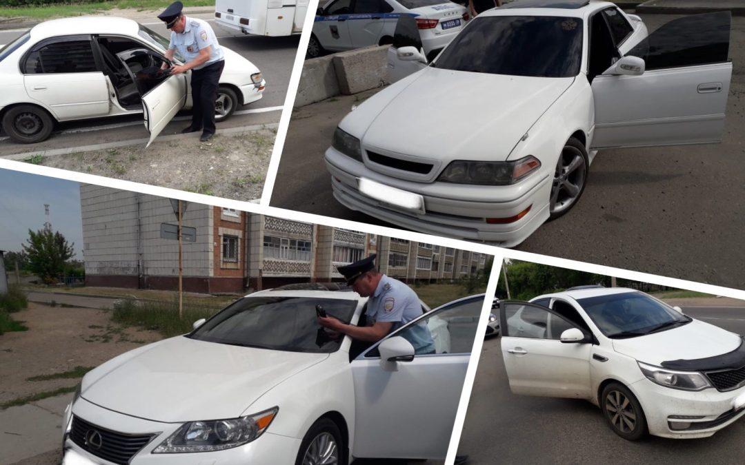 Очередной рейд по выявлению тонированных автомобилей прошёл в Ангарске
