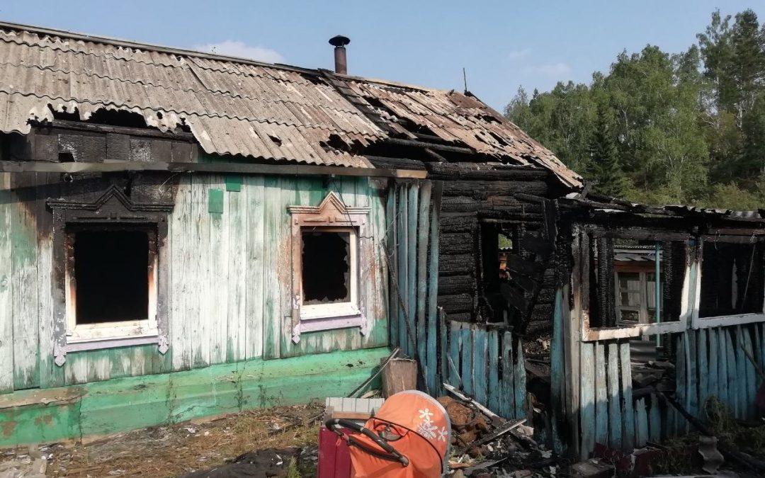 Трое детей и женщина погибли на пожаре в Мишелевке