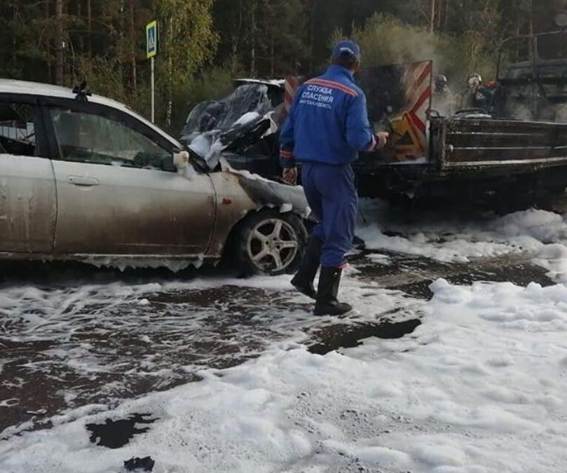 Серьезное ДТП возле Еловского водохранилища.