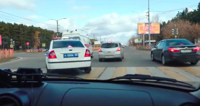 Тест на пропуск скорой помощи устроили в Ангарске.