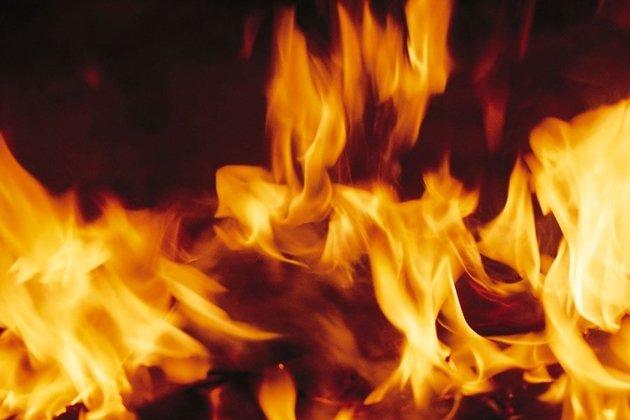 Пожар на цемзаводе в Ангарске.