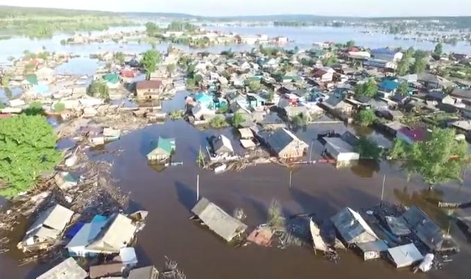 260 домов начали разрушаться после паводка в Тулуне.
