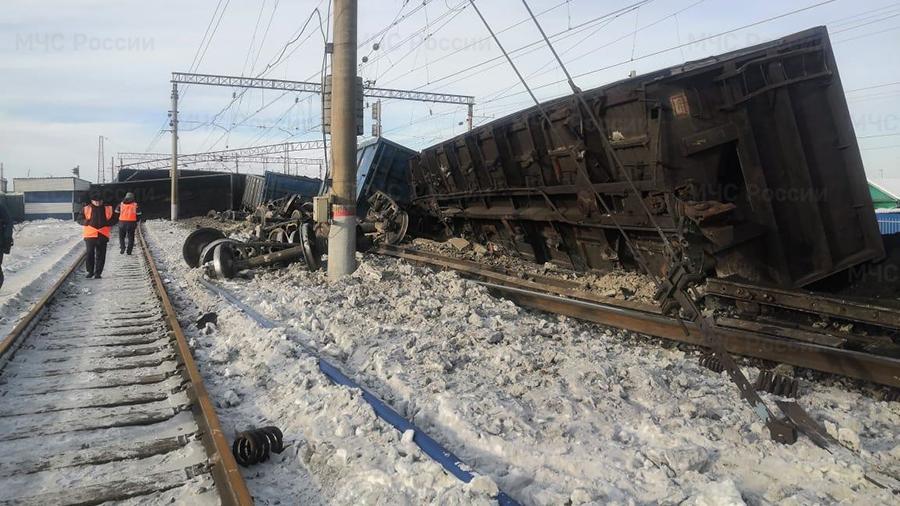 Госжелдорнадзор назвал виновных в сходе 30 вагонов с углём в Мегете в январе.