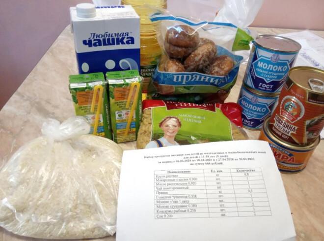 Школьникам льготных категорий выдадут продукты за две недели