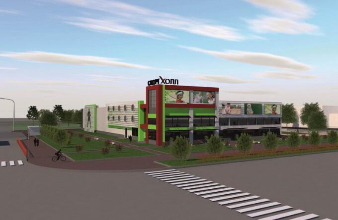 Уникальный спорткомплекс «СпортХолл» строят в Ангарске