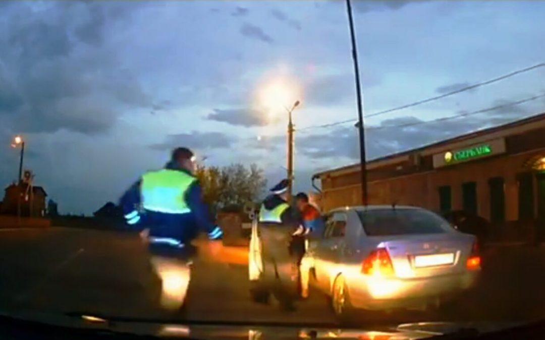 Пьяный на угнанном автомобиле задержан в Мегете (видео)