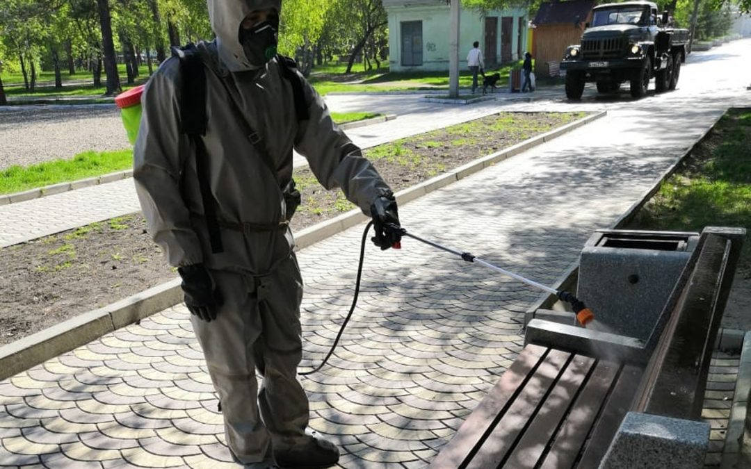 Для дезинфекции улиц в Ангарске привлечены войска