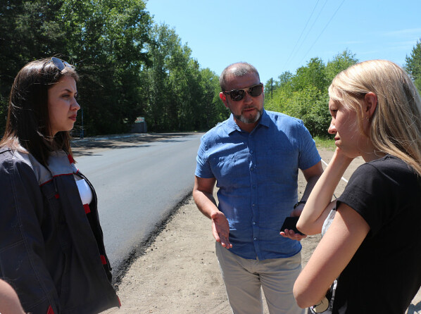 Ремонт дороги на Савватеевку остановлен из-за низкого качества работ