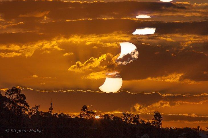 Частное солнечное затмение состоится днем 21 июня