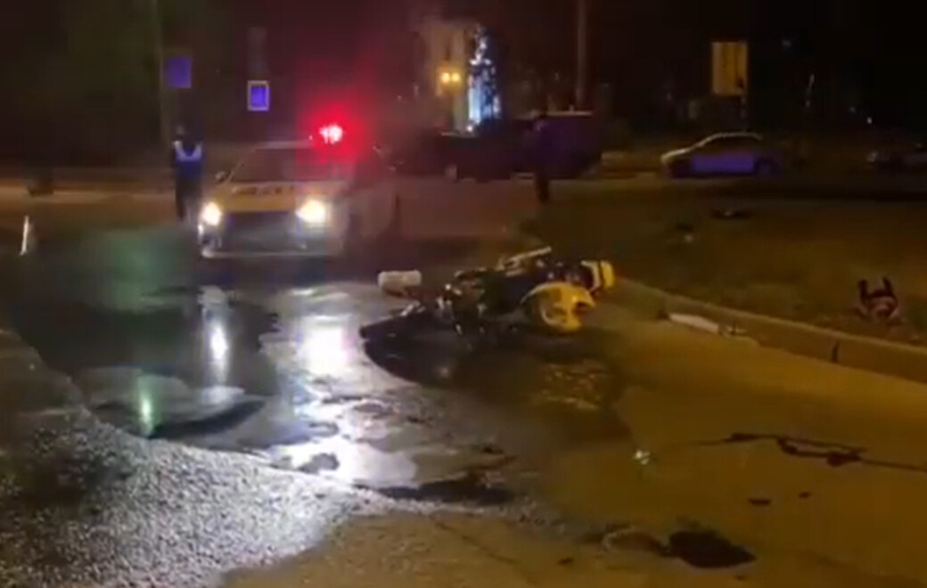 Возле храма в Ангарске разбилась пассажирка мотоцикла (видео)