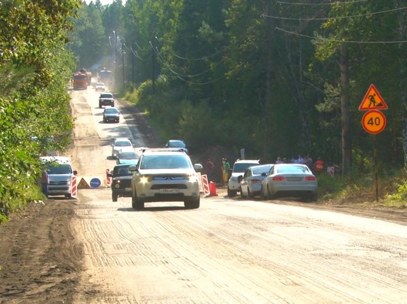 Контроль за ремонтом дороги в сторону Савватеевского тракта