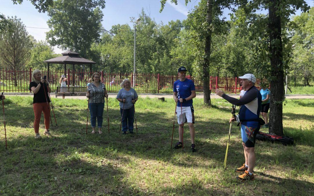 Общественники провели тимбилдинг в парке 10-летия Ангарска