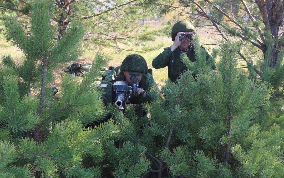 Разведрота оперативного полка провела под Ангарском учения