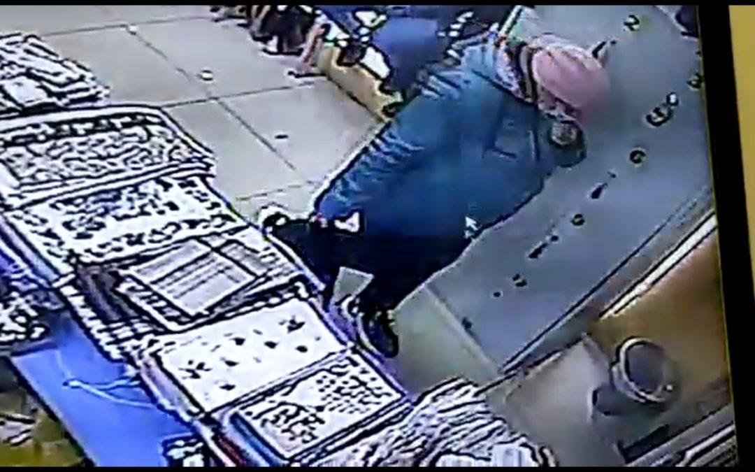 Ангарчанка украла сумку с деньгами и документами (видео)