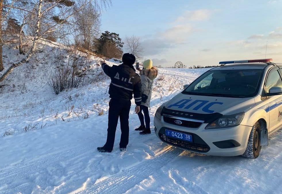 В Ангарске выявили опасные горки с выездом на дорогу