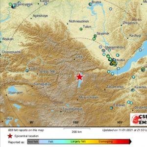 Землетрясение в иркутской области 12 января