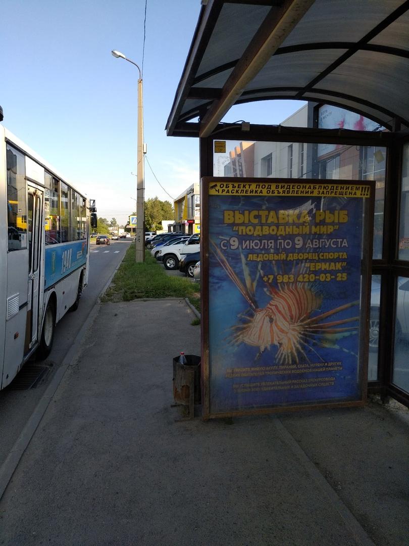 """Реклама на автобусной остановке """"215 квартал"""""""