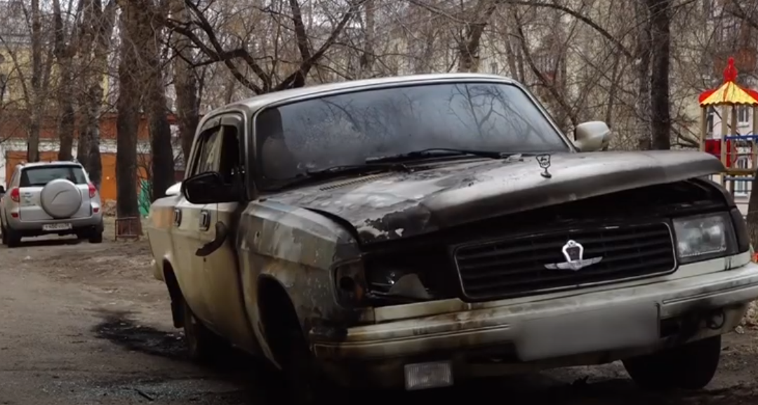 В Ангарске сгорел автомобиль.