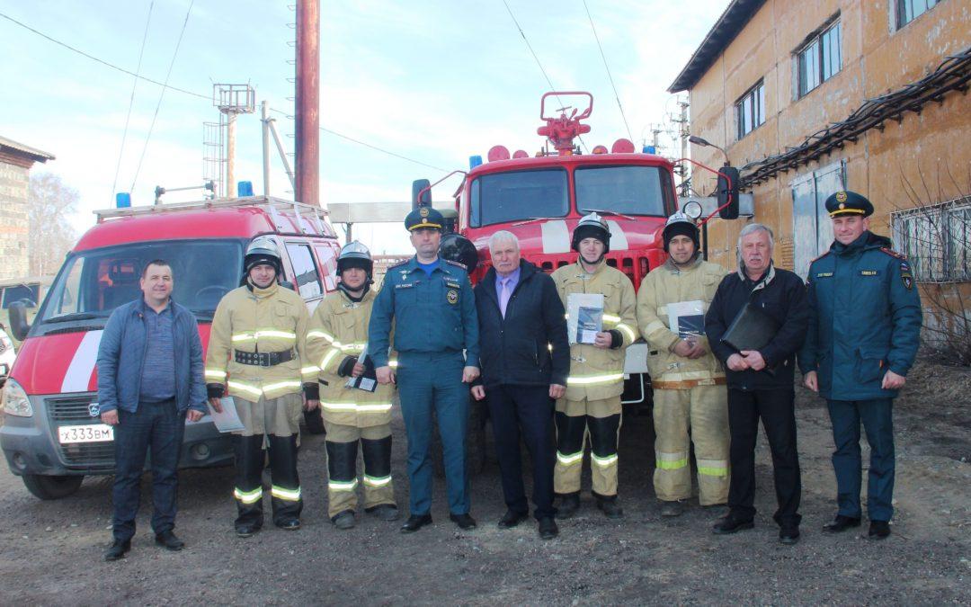 Первая в России частная пожарная часть открылась в Усольском районе.