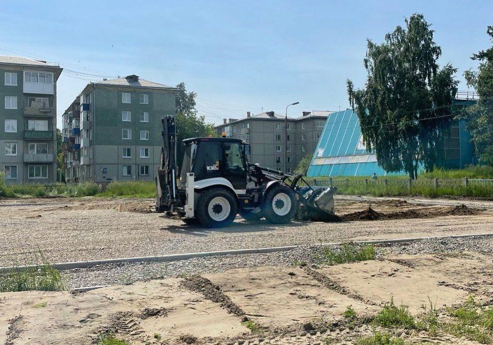 В Ангарском округе продолжается восстановление школьных стадионов