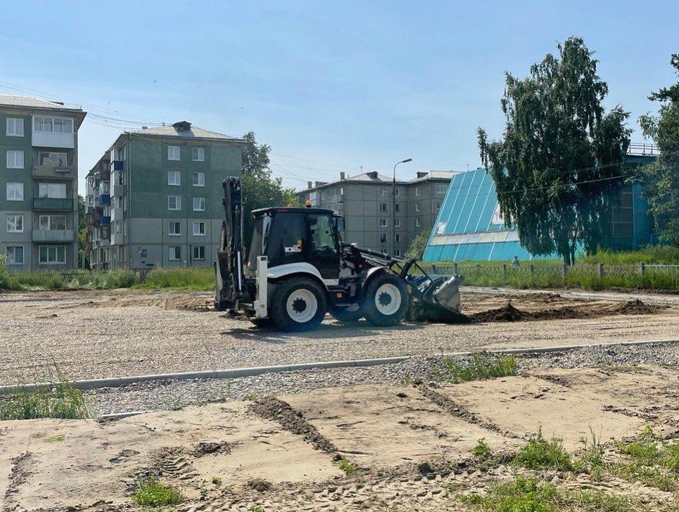 Ремонт школьных стадионов в Ангарске