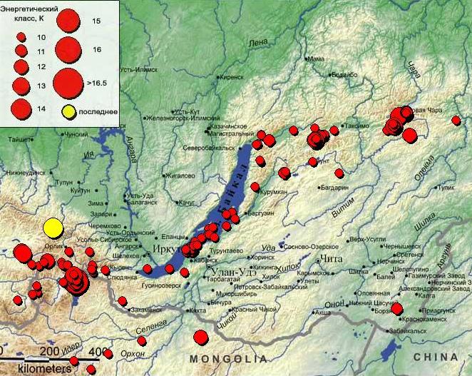 Сильное землетрясение магнитудой 5.2 – 175 км к юго-западу от Тулуна произошло в Приангарье.